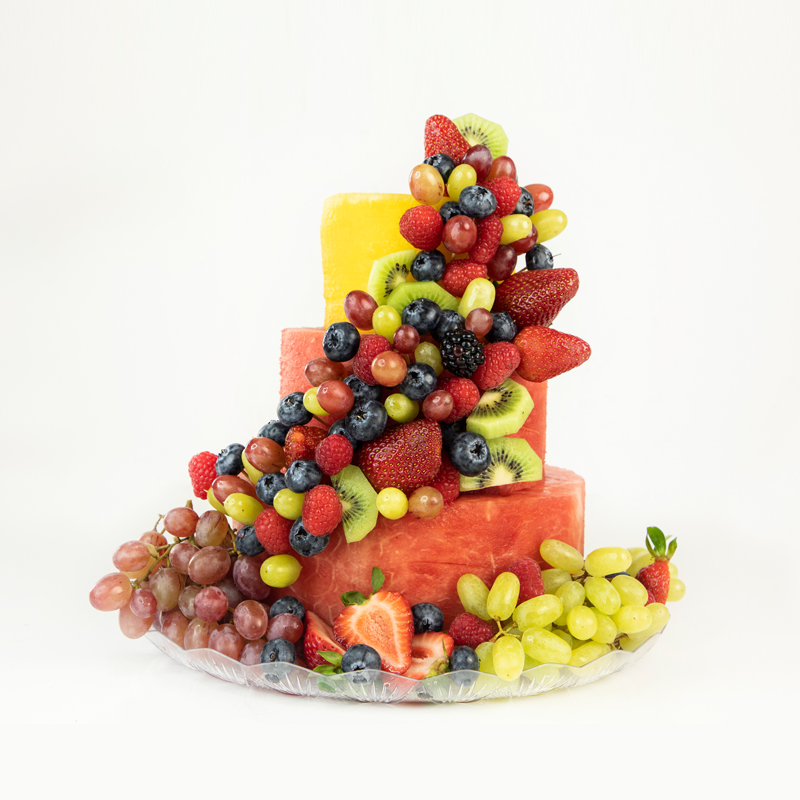 Deluxe Watermelon Fruit Cake 3 tier