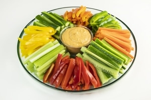 Deluxe Vegetable & Hummus Platter
