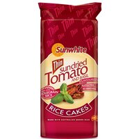 Sunwhite Thin Sundried Tomato & Basil Rice Cake-195g