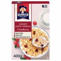 Crispy Oats Cereal Cranberry – Quaker – 400g