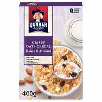 Crispy Oats Raisin Almond Cereal – Quaker – 400g
