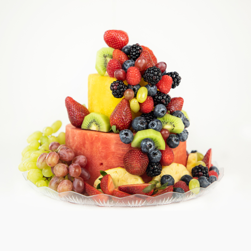 Deluxe Watermelon Fruit Cake 2 tier