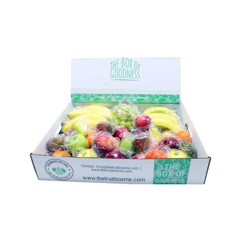Snack Fruit Box Individually Wrapped Fruits 6kg